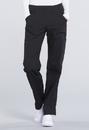 Cherokee WW170 Mid Rise Straight Leg Pull-on Cargo Pant 63% Polyester 34% Cotton 3% Spandex Poplin