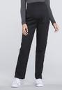 Cherokee WW220 Maternity Straight Leg Pant 63% Polyester 34% Cotton 3% Spandex Poplin