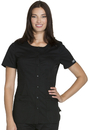Cherokee WW683 Round Neck Top, 55% Cotton/ 42% Polyester, / 3% Spandex, Top, WW Core Stretch