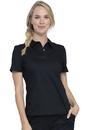 Cherokee WW698 WW Revolution Snap Front Polo Shirt, 78% Polyester / 20 % Rayon / 2% Spandex Twill