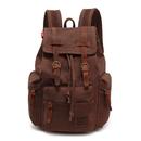 School Backpack Vintage Canvas Leather Rucksack Laptop Book Bag for Women Men