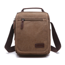 TOPTIE Medium Crossbody Bag with Flap and Handles, Mens Shouler Bag for Travel