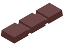 Chocolate World CW1000L24 Chocolate mould magnetic bar 3 block