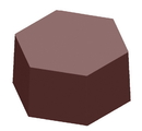 Chocolate World CW1000L25 Chocolate mould magnetic hexagon