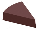 Chocolate World CW1000L26 Chocolate mould magnetic triangle slice