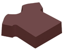 Chocolate World CW1000L31 Chocolate mould magnetic football shirt