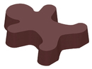 Chocolate World CW1000L33 Chocolate mould magnetic gingerbread man