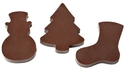 Chocolate World CW1000L34 Chocolate mould magnetic christmas ornaments