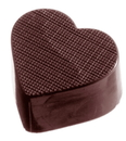 Chocolate World CW1018 Chocolate mould heart checkered