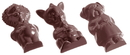 Chocolate World CW1039 Chocolate mould animal figures 9 fig.