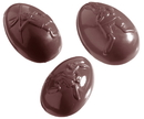Chocolate World CW1040 Chocolate mould egg olympia 62 mm12 fig.
