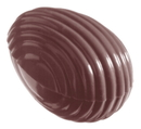 Chocolate World CW1053 Chocolate mould egg striped 32 mm