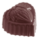Chocolate World CW1057 Chocolate mould heart hazelnut