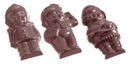 Chocolate World CW1071 Chocolate mould 5 figures front side 5 fig.