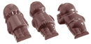 Chocolate World CW1072 Chocolate mould 5 fig.ures back side 5 fig.