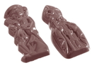 Chocolate World CW1078 Chocolate mould St Nicholas & Black peter 2 fig.