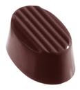 Chocolate World CW1135 Chocolate mould oval rib