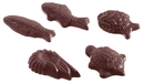 Chocolate World CW1170 Chocolate mould caraque seafood 5 fig.