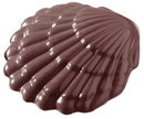 Chocolate World CW1171 Chocolate mould scallop 108mm 2 fig.