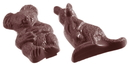 Chocolate World CW1172 Chocolate mould kangaroo and koala 2 fig.