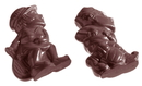Chocolate World CW1181 Chocolate mould sports figures 3 fig.