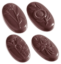 Chocolate World CW1188 Chocolate mould flowercaraque oval 5 fig.
