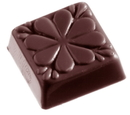 Chocolate World CW1355 Chocolate mould carre clover