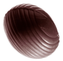 Chocolate World CW1358 Chocolate mould egg striped oval