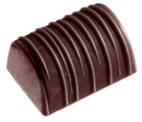 Chocolate World CW1393 Chocolate mould buche with stripes