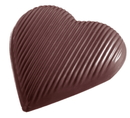 Chocolate World CW1396 Chocolate mould heart striped 118 mm