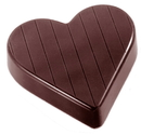 Chocolate World CW1404 Chocolate mould heart striped 52 mm