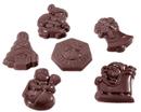 Chocolate World CW1406 Chocolate mould caraque christmas garnish 6 fig.