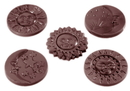 Chocolate World CW1415 Chocolate mould moon caraques 6 gr 5 fig.