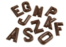 Chocolate World CW1426 Chocolate mould letters alphabet A-Z 26 fig.