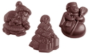 Chocolate World CW1435 Chocolate mould Christmas assortment 3 fig.