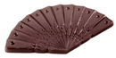 Chocolate World CW1437 Chocolate mould caraque hand fan