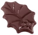 Chocolate World CW1439 Chocolate mould hollyleaf