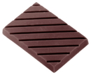 Chocolate World CW1441 Chocolate mould caraque rectangular striped