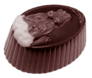 Chocolate World CW1459 Chocolate mould family hare chocolate 3 fig.