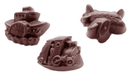 Chocolate World CW1471 Chocolate mould belgian express 3 fig.