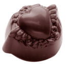 Chocolate World CW1473 Chocolate mould heart in garland