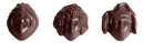 Chocolate World CW1502 Chocolate mould bacchus & co. 3 fig.