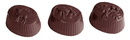 Chocolate World CW1507 Chocolate mould spring 3 fig.