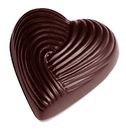 Chocolate World CW1513 Chocolate mould heart braided