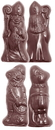 Chocolate World CW1522 Chocolate mould St Nicholas & Black peter 2 fig.
