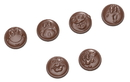 Chocolate World CW1531 Chocolate mould smileys 6 fig.