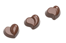 Chocolate World CW1576 Chocolate mould heart modern 3 fig.