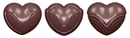 Chocolate World CW1577 Chocolate mould heart classic 3 fig.