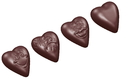 Chocolate World CW1579 Chocolate mould heart smiley 3 fig.