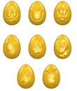 Chocolate World CW1580 Chocolate mould egg smiley 33 mm 8 fig.